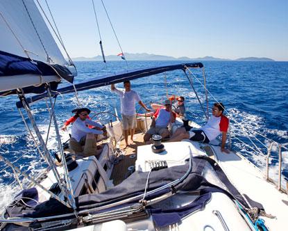 Hajókázás Horvátországban