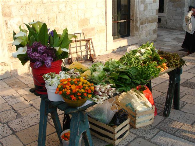 Tavaszi piac Dubrovnikban