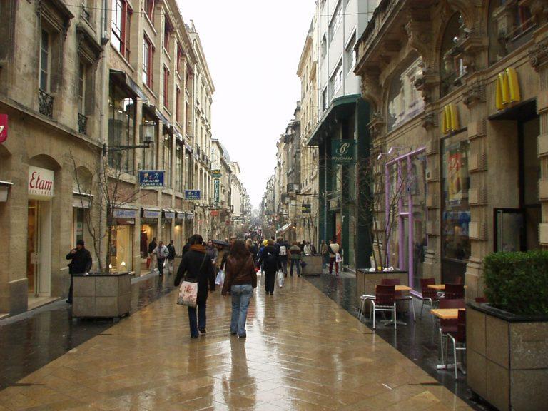 Bordeaux sétálóutcája, a Saint Catherine