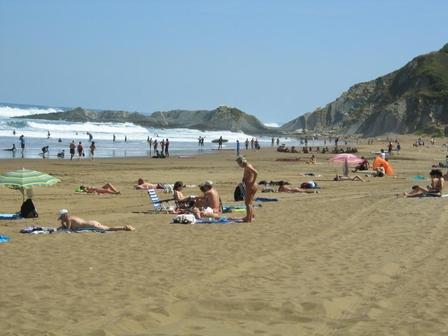 Bilbao közelében fekvő Sopelana városában lévő Barinatxe strand