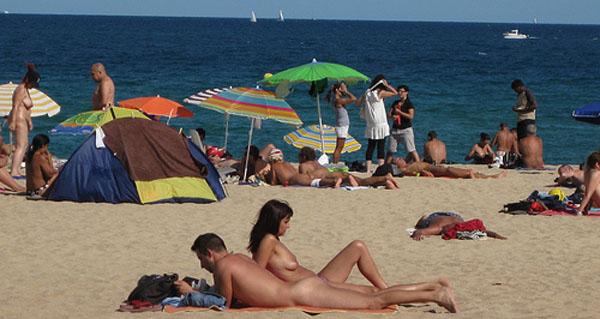 Nudista strand Barcelonában