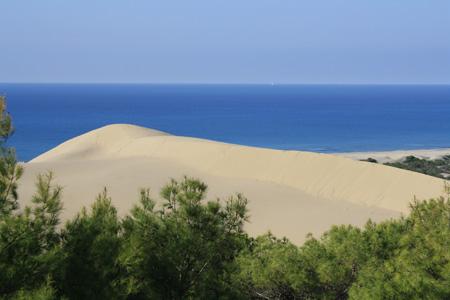Patara hosszú, homokos partszakasza
