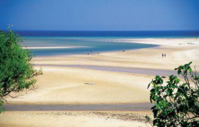 Tavira egyik strandja: Ilha de Tavira
