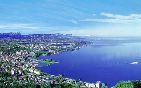 Bregenz a Boden-tó partján