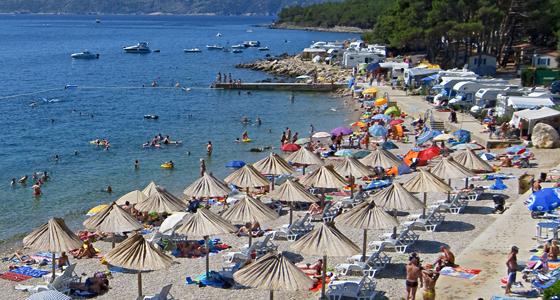 Krk-sziget kék zászlós strandjai