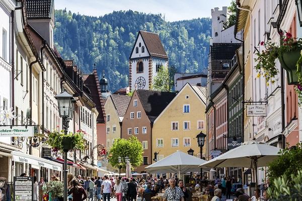Füssen óvárosa