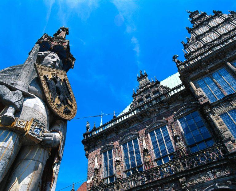 Bréma - A Városháza és a Roland-szobor