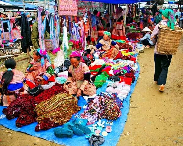 Sapa vietnami piac