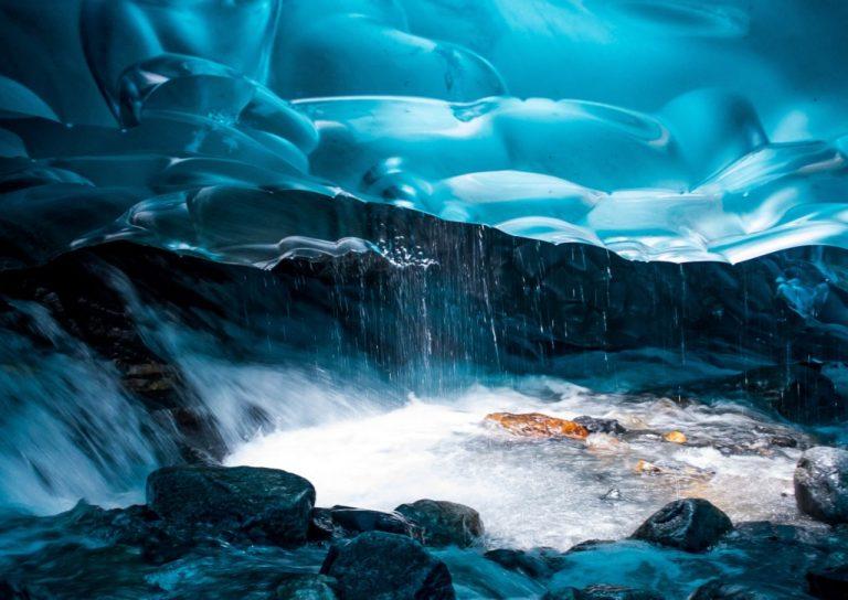 Mendenhall gleccser jégbarlangjai - Alaszka