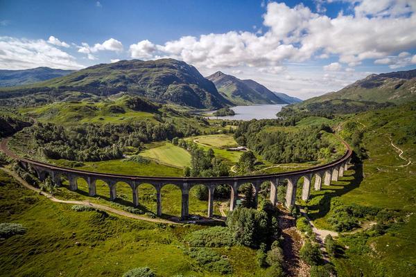Glenfinnan viadukt, Loch Shiel