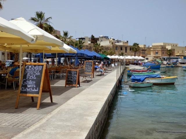 Marsaxlokki kikötői sétány